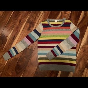 Gap Striped Semi-Glitter Sweater